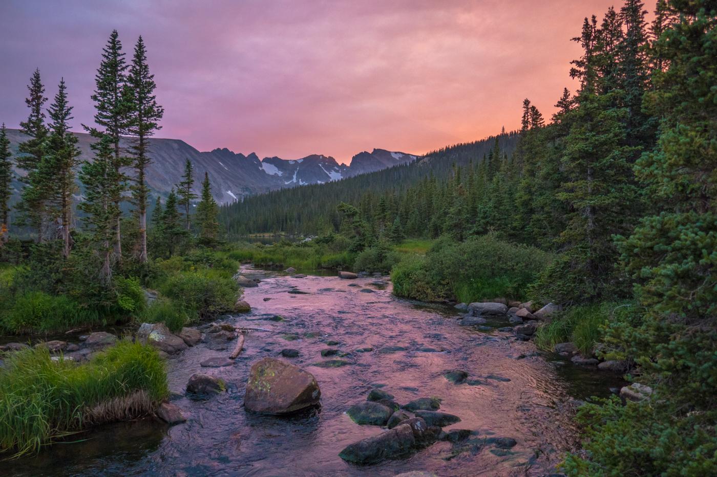 Fasting Beautiful Colorado Pink Sky Smoke Sunsset
